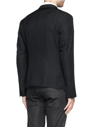 Back View - Click To Enlarge - Haider Ackermann - Double breasted shawl collar blazer