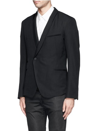 Front View - Click To Enlarge - Haider Ackermann - Double breasted shawl collar blazer