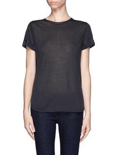 VINCESilk back cashmere T-shirt