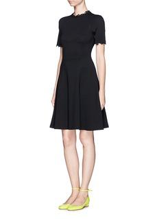 ERDEM'Armel' embroidery trim dress