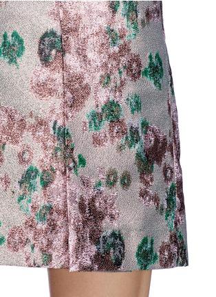 Detail View - Click To Enlarge - ERDEM - 'Calista' metallic jacquard pleat skirt