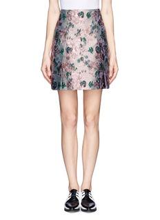 ERDEM'Calista' metallic jacquard pleat skirt