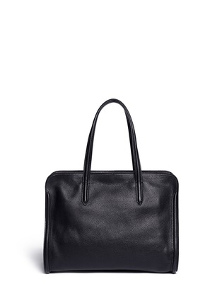 Back View - Click To Enlarge - Alexander McQueen - 'Padlock' medium leather tote