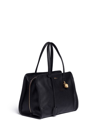 Front View - Click To Enlarge - Alexander McQueen - 'Padlock' medium leather tote