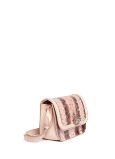ALEXANDER MCQUEEN'Padlock' snakeskin leather satchel
