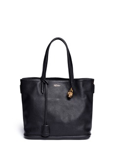 ALEXANDER MCQUEEN 'Padlock' small pebbled leather tote