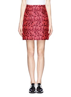 ERDEM'Calista' floral jacquard pleat skirt