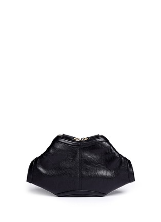 Back View - Click To Enlarge - Alexander McQueen - 'De Manta' leather clutch