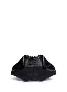 ALEXANDER MCQUEEN'De-Manta' leather clutch