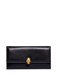 ALEXANDER MCQUEEN Skull clasp continental leather wallet