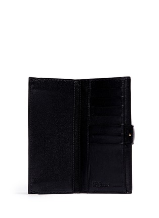 Figure View - Click To Enlarge - Alexander McQueen - Skull clasp leather continentalwallet