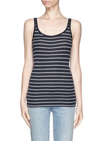 Stripe rib tank top