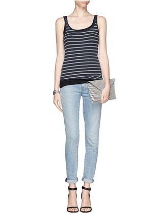 VINCE - Stripe rib tank top