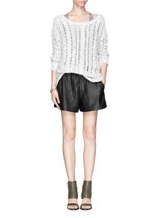 VINCERustic linen cable lace sweater