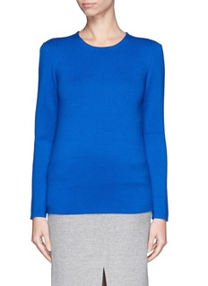 MAJE 'Kasakh' pleat shoulder sweater