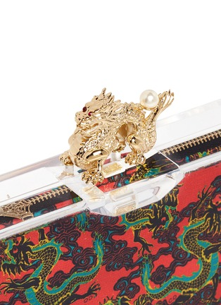 Detail View - Click To Enlarge - Charlotte Olympia - 'Dragon pandora' perspex clutch