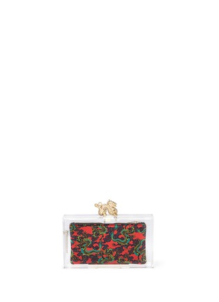 Back View - Click To Enlarge - Charlotte Olympia - 'Dragon pandora' perspex clutch
