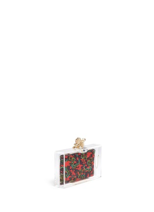 Front View - Click To Enlarge - Charlotte Olympia - 'Dragon pandora' perspex clutch