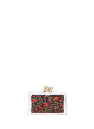 Main View - Click To Enlarge - Charlotte Olympia - 'Dragon pandora' perspex clutch