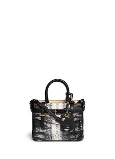 REED KRAKOFF'Micro Boxer' lizard print leather satchel