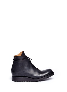 SONG FOR THE MUTELace up leather sneakers