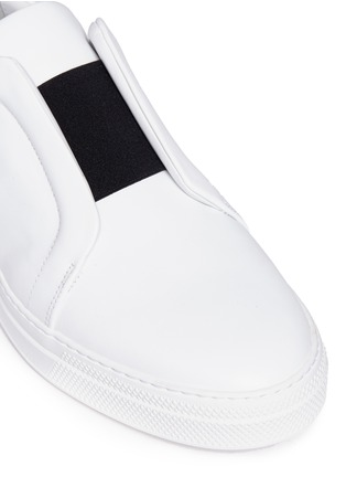Detail View - Click To Enlarge - Pierre Hardy - Elastic band leather slip-on sneakers