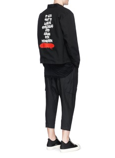 Elizabeth ColeGraffiti print reversible kimono jacket