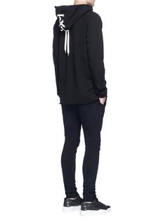 Elizabeth ColeLace-up cotton hoodie