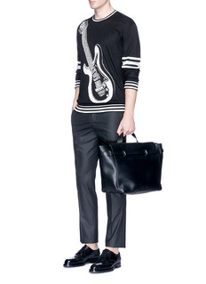 Dolce & GabbanaGuitar intarsia silk sweater