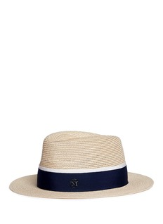 Maison Michel 'André' swirl canapa straw fedora hat