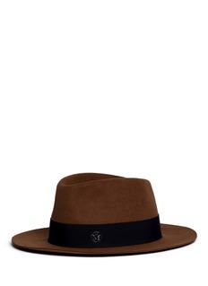 Maison Michel'André' swirl rabbit furfelt fedora hat