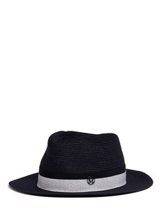 Maison Michel'André' swirl hemp straw fedora hat