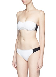 Stella McCartney 'Miracle' colourblock scuba jersey bikini bottoms