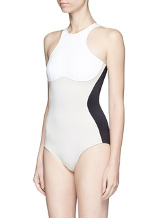 Stella McCartney 'Miracle' colourblock scuba jersey one-piece swimsuit