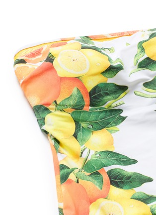 Detail View - Click To Enlarge - Stella McCartney - 'Iconic Prints' citrus strapless one-piece swimsuit