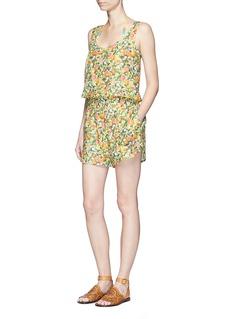 Stella McCartneyCitrus print elastic waist cotton-silk rompers