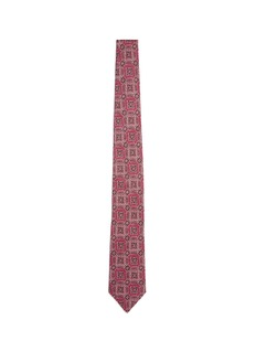 ISAIA Floral print linen tie