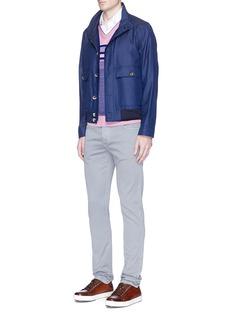 ISAIA'Scollo' stripe silk-cotton sweater