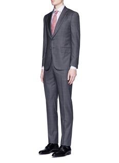 ISAIA'Milano' stripe woven cotton shirt