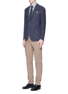 BoglioliGingham check jacquard soft blazer