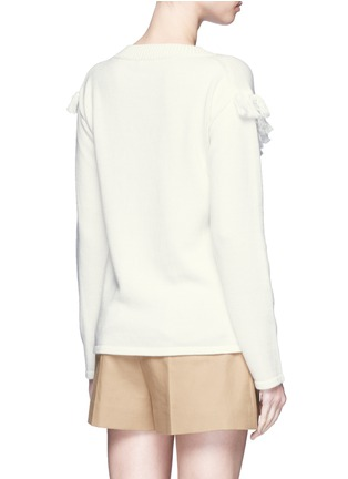 Back View - Click To Enlarge - Chloé - Tassel pompom cotton-wool sweater