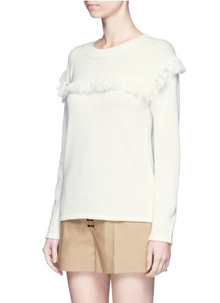 Front View - Click To Enlarge - Chloé - Tassel pompom cotton-wool sweater