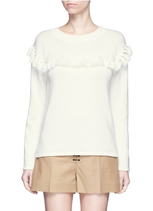 Main View - Click To Enlarge - Chloé - Tassel pompom cotton-wool sweater