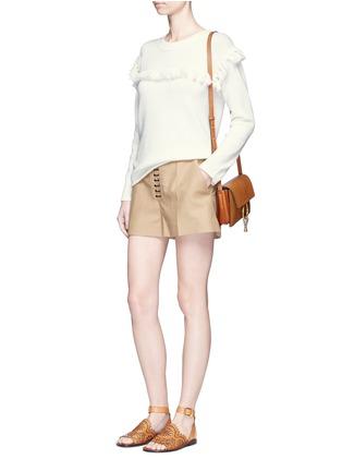 Figure View - Click To Enlarge - Chloé - Tassel pompom cotton-wool sweater