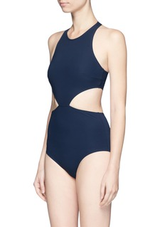 Flagpole Swim 'Lynn' cutout halterneck swimsuit