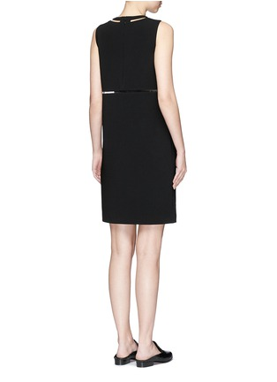 Back View - Click To Enlarge - Alexander Wang  - Fish line crepe dress
