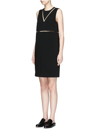 Front View - Click To Enlarge - Alexander Wang  - Fish line crepe dress
