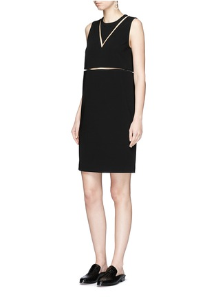 Figure View - Click To Enlarge - Alexander Wang  - Fish line crepe dress