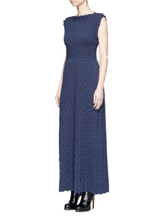 Alaïa 'Nigali' diamond corrugated sleeveless knit dress