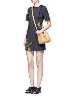 3.1 Phillip LimFloral embroidered patch cutout jersey dress